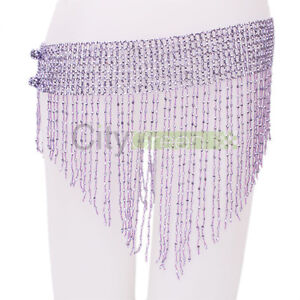 Hot Bead Belly Dance Dancing Hip Scarf Costume Belt Handmade 7 Colors To Choose