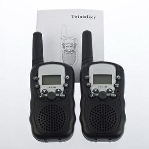 2Pc-LCD-5km-UHF-Auto-Scanning-8-Channel-2-Way-Radio-Wireless-Walkie-Talkie-T-388
