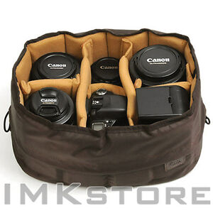 NEW-Ciesta-Flexible-L-Camera-insert-Partition-Padded-Bag-Case-for-DSLR-SLR-Lens