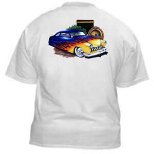 Kurbside-Kustoms-Hot-Rod-T-Shirt-SS346-Custom-50-s-Mercury-Chopped-Flamed-Merc
