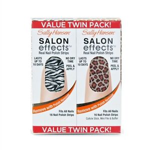 Sally Hansen Salon Effects Nail Polish Strips Twin Pack Wild Child / Kitty, Kitt