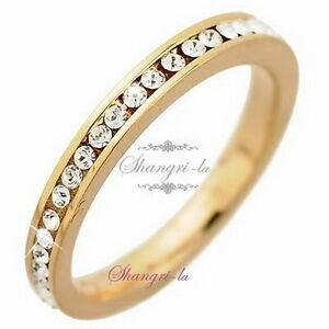 0340 9K 9CT GOLD GF CREATED DIAMOND ANNIVERSARY Engagement BAND RING Size10