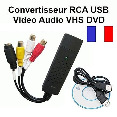 Adaptateur Convertisseur Rca Usb Video Audio Vhs Dvd