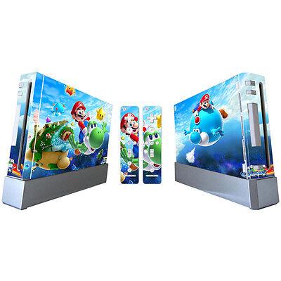 Super Mario Bros Protective Vinyl Skin Cover For Nintendo Wii (F)