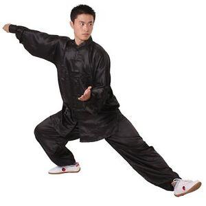 Chinese Kung Fu Suit Tai Chi Silk Uniform White/black