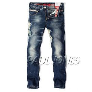 2012-news-Mens-Stylish-Slim-Fit-Classic-Straight-Leg-design-Jeans-Pants-Trousers