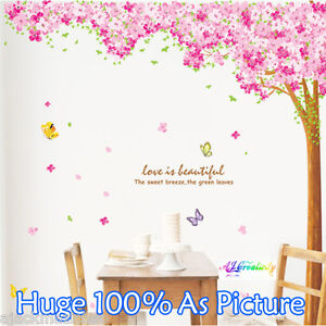 Huge-Cherry-tree-Wall-Stickers-Wall-Decal-Removable-Art-Windows-Home-Kid-Nursery