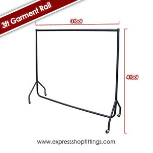 3ft, 4ft,5ft and 6ft HEAVY DUTY GARMENT RAILS