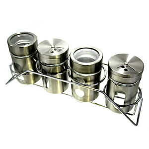 5-Piece-Glass-Storage-And-Stainless-Steel-Canister-Set