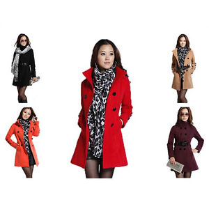 Womens-Double-Breasted-Wool-Coat-Lady-Warm-Winter-Jacket-Trench-Slim-Fit-N218