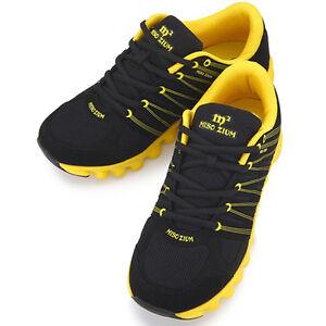 new miso zium black yellow womens sports club running