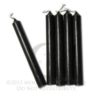 Black Chime Candles  Lot of 20  Wiccan Wicca Pagan Magical Ritual Supplies