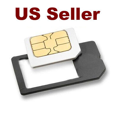 Small Mini Micro Sim Card Adaptor Adapter Converter - US Seller - Free Shipping