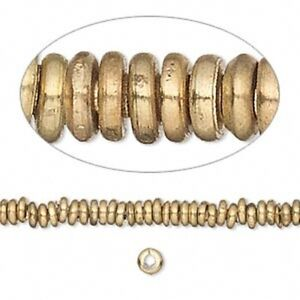 Solid-Brass-4mm-Heishi-Spacer-Beads-100pk