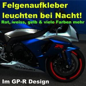 Felgenrandaufkleber reflektierend GP Design Motorrad felgenaufkleber in Rot