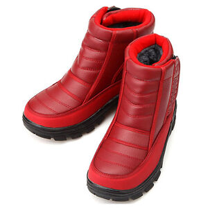 Brilliant Thick Red Boots Fashion Snow Boots For Women Fur Shoes Ankle Boots