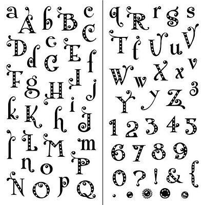 Inkadinkado Clear Stamps Gem Stone Alphabet Punctuation