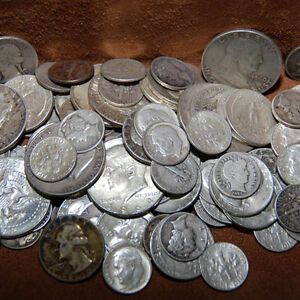 90-SILVER-1-FACE-USA-COINS-LOT-HALF-DOLLARS-QUARTERS-DIMES-OUT-OF-CIRC-MIX