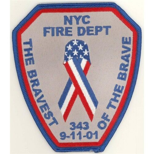 91101 NYC Fire Department Bravest Patch