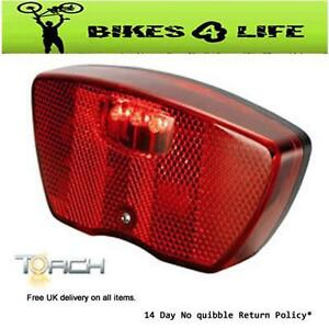 Torch 3 LED Tailbright Rear Cycle Bike Carrier Mounting Light
