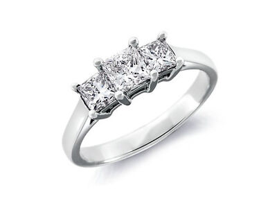 1.38 CT PRINCESS CUT DIAMOND ENGAGEMENT Anatomy cingulum 14K WHITE GOLD ENHANCED