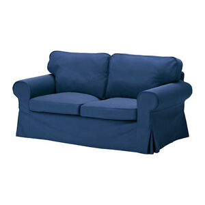 Ikea-Ektorp-loveseat-slipcover-2-seat-sofa-cover-Idemo-Blue-2-seater-New-NIP