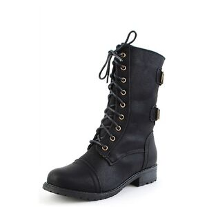 Wild-Diva-Women-Combat-Army-Military-Motorcycle-Riding-Boot-Black-TIMBERLY-02