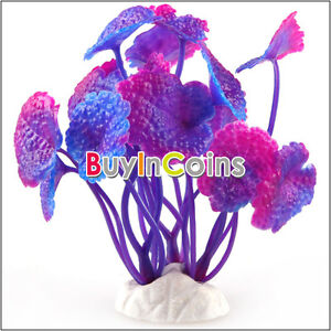 Purple Plastic Plant Grass Aquarium Decorative Fish Tank Landscape Decoration