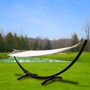 New-MTN-Deluxe-Cypress-Wooden-Wood-Curved-Arc-Hammock-Stand-Free-Cotton-Hammock