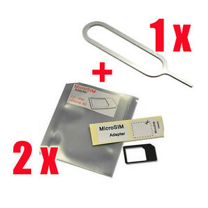 Micro Sim Card Adapter Tray Holder for ATT T-Mobile Verizon Sprint iPhone 4 4S