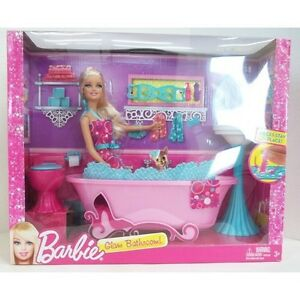 Barbie Glam Bathroom Bathtub Sink Toilet Stay in Place ...