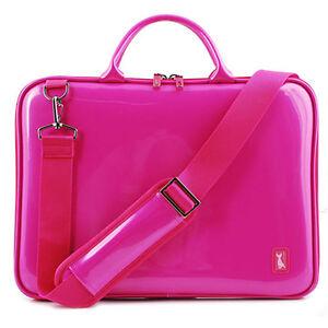 15-4-Womens-Laptop-Bag-Anti-Shock-bag-sleeve-case-Enamel-Pink-Pattern-strap-new