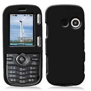 Black Rubberized Snap-On Hard Case cover for LG Cosmos VN250