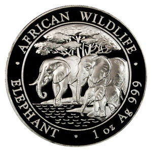 2013-Somalia-1-Oz-Silver-Elephant-100-Shillings-Gem-Uncirculated-SKU26867