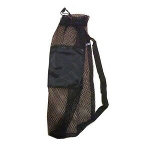 Mesh-Drawstring-Snorkel-Bag-with-Black-Zip-Pocket