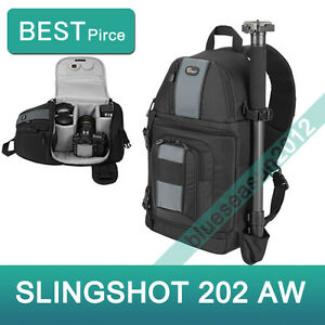 New-Lowepro-SlingShot-202-AW-Camera-Backpack-Shoulder-Bag-with-All-Weather-Cover