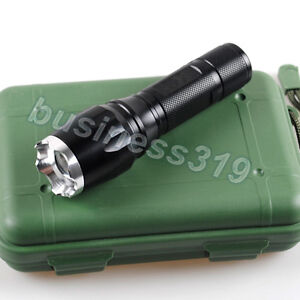 1000 Lumens CREE XM-L T6 LED Zoom Lamp Light Zoomable Flashlight Torch