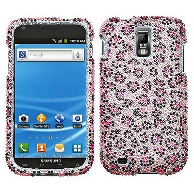 Pink Cheetah Crystal Bling Case Phone Cover For T Mobile Samsung Galaxy S Ii 2