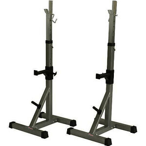 deluxe press squat stands power rack workout crossfit home