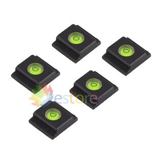 5 x Flash Hot Shoe Cover Cap Bubble Spirit Level For Canon Nikon Olympus Camera