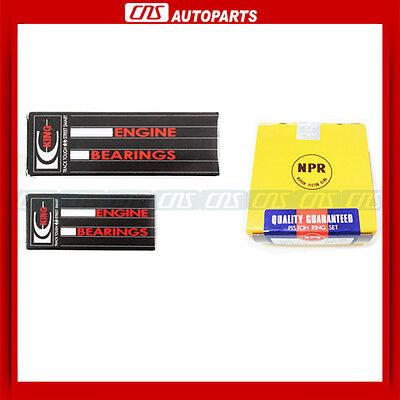Main Rod Bearings+rings For 98-04 Nissan 2.4l Altima Frontier Xterra Ka24de on Sale