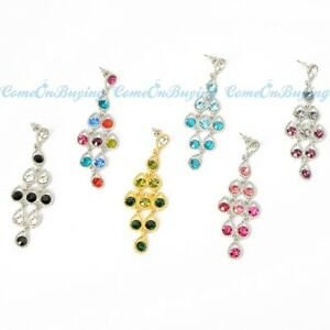 6-Colors-Fashion-Rhinestone-Crystal-Water-Drop-Hollow-Stud-Dangle-Earrings