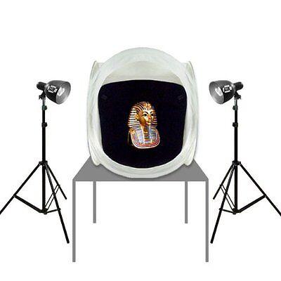 PBL Photo Studio Tent 30in Hi-output Photo Bulbs 650 Watt...