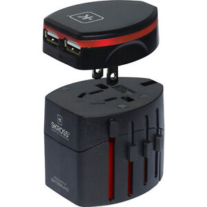 Skross Swiss World Travel Adapter 2 & USB Charger  NEW