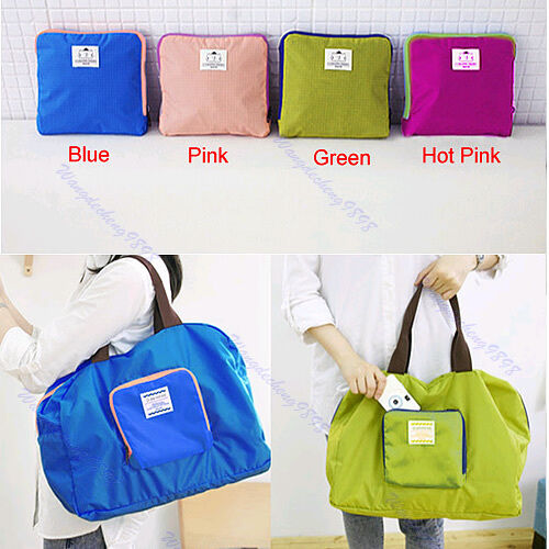 Folding Reusable Waterproof Eco Pouch Tote Handbag Shopping Travel Shoulder Bag
