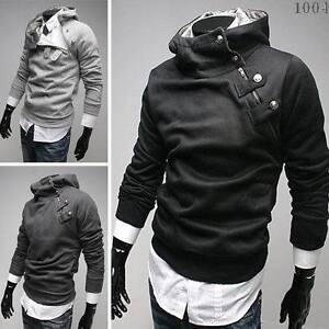 NWT-Men-Punk-Bomber-Biker-Motorcycle-Slim-Fit-Designer-Sweatshirt-Hoodie-Jacket
