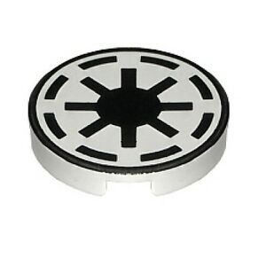 U222a lego star wars round tile republic logo white 7163 7143 7256 7868 new ebay - Republic star wars logo ...