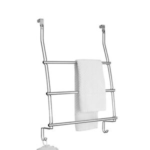 Home-Collections-Over-the-Door-Steel-Chrome-Towel-Rack-Conveniently-Store-Towels