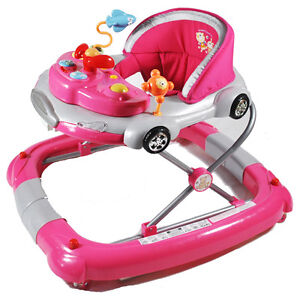 Brand New Aussie Baby Pink Car Theme Baby Walker Rocker Play Centre