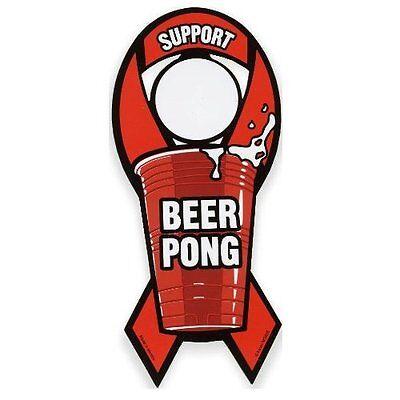 Support Beer Pong Support Magnetic Prank Car Bumper Sticker Joke Home